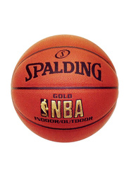 Spalding Large SN74559Z NBA Gold Indoor/Outdoor Basketball, Orange