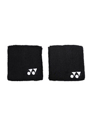 Yonex AC489EX Wrist Band, 2 Pieces, Black