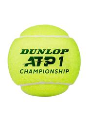 Dunlop ATP Championship Tennisball Set, 3 Pieces, Yellow