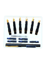 7-Piece Calligraphy Pen And Nib Set, Black
