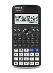 Casio 12-Digit Scientific Calculator, Black/White/Blue