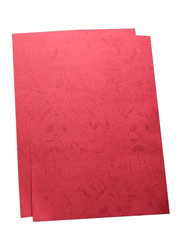 Partner A4 Embossed Binding Sheet Set, 100-Pieces, Red