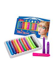 12-Piece Face Paint Crayon Set, Multicolor