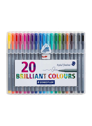 Staedtler 20-Piece Triplus Fineliner Pen Set, Multicolor