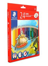 Staedtler 24-Piece Sketch and Drawing Art Wood Color Pencil Set, Multicolor
