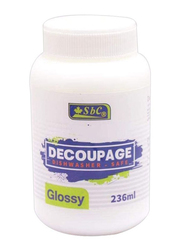 SBC Decoupage Glossy Glue, 236ml, White