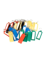 Uxcell Ring Key Tag, 50 Pieces, Green/Blue/Red