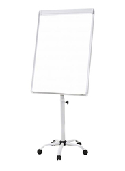 Flip Chart Stand with Wheels, White