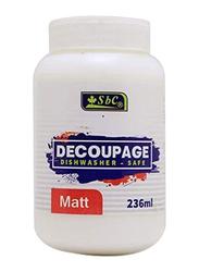 SBC Decoupage Matt Glue, 236ml, White