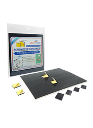 Jack Chloe Magnetic Adhesive Square Set, 74-Pieces, JC-MS-2S-01, Black/Yellow