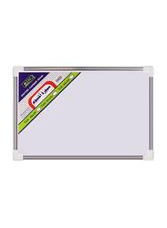 SBC Aluminum Framed Magnetic Board, White/Grey