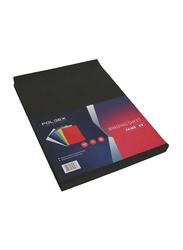 Partner A3 Embossed Binding Sheet, 100 Pieces, Black