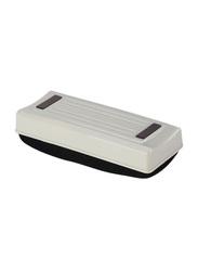 Deli Magnetic Whiteboard Eraser, Black/White