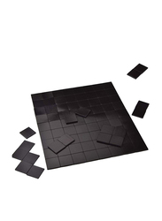Youngever 90-Piece Magnetic Tape Squares Set, Black