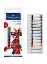 Faber-Castell Acrylic Color, 12 Pieces, Multicolor