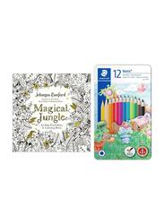 Staedtler Noris Color Pencil with Coloring Book Set, 12-Pieces, Multicolor