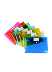 Atlas Plastic Folder with Card Tag Holder, 7 Pieces, Multicolor