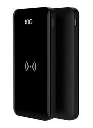 Golf Space 10000mAh Full Screen Wireless Power Bank with Type-C Input, Black