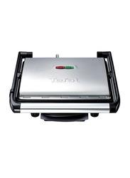 Tefal Inicio Portable Grill and Panini Maker, 2000W, GC241D28, Silver/Black