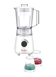 Moulinex UNO Ice Crush Blender, 400W, LM2A3127, White