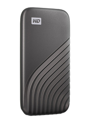 Western Digital 500GB My Passport External Portable Solid State Drive, USB 3.2, Up to 1050 MB/s Solid State Drive, Grey