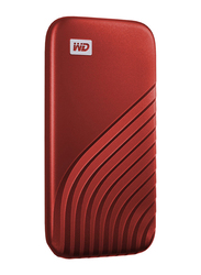Western Digital 2TB My Passport External Portable Solid State Drive, USB 3.2, Up to 1050 MB/s Solid State Drive, Red