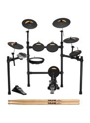 Nux DM 4S Electronic Drum Set, Black