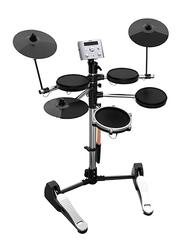 Aroma TDX 10 Electronic Drum Set, Black/Silver