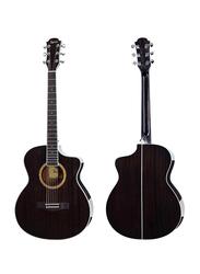 Steiner TS430 Acoustic Guitar, Rosewood Fingerboard, Black