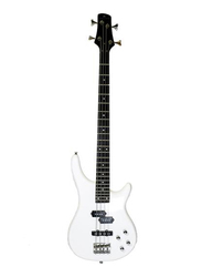 Steiner EB2-4 Electric Bass Guitar, Rosewood Fingerboard, White