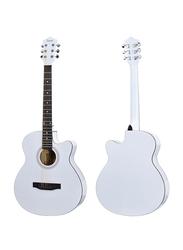 Steiner AG401 Acoustic Guitar, Rosewood Fingerboard, White