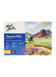 Mont Marte Signature Canvas Pad, 10 Sheet, 280 GSM, A5 Size, White