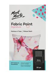 Mont Marte Signature Fabric Paints Set, 20 x 20ml, Multicolor