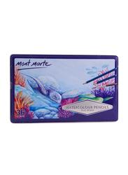 Mont Marte 36-Piece Watercolour Pencils, Multicolor
