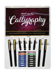 Mont Marte 26-Piece Calligraphy Set, Black/Gold