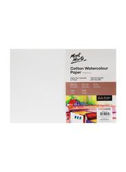 Mont Marte Cotton Watercolour Paper, 5 Sheets, 300 GSM, A4 Size, White