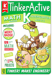 TinkerActive Workbooks: Kindergarten Math, Paperback Book, By: Nathalie Le Du