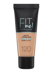 Maybelline New York Fit Me Foundation, 30ml, 120 Classic Ivory, Beige