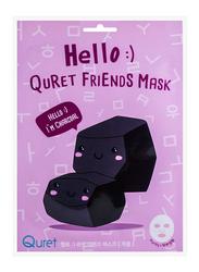 Quret Hello :) Charcoal Friends Face Mask, 25gm