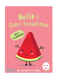 Quret Hello :) Watermelon Friends Face Mask, 25gm
