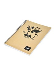 Light 10-Piece Spiral Soft Cover Notebook, Single Line, 9 x 7 inch, 100 Sheets, LINB971805S, Beige