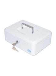 FIS Cash Box with Key, 10 Inch, FSCPTS0025WT, Matt Finish White