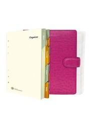FIS Italian PU Ostrich A5 Size Organizer, FSORA5122PI, Pink