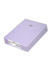 FIS Neon Hard Cover Single Line Notebook Set, 5 x 100 Sheets, A4 Size, FSNBA4N274, Taro Lavender