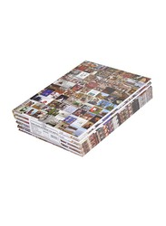 FIS Hard Cover Single Line Notebook Set, 10 x 8 inch, 5 Piece x 100 Sheets, FSNB1081903, Multicolour