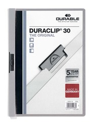 Durable 25-Piece Duraclip Plastic File, A4 Size, DUPG2200-10, Grey