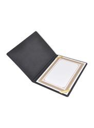 FIS Italian PU 1 Side Padded Cover Certificate Folder, A4 Size, FSCLCHPUBKD6, Black