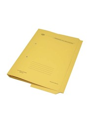 FIS Transfer File with Fastener & Pocket, 320GSM, F/S Size, 40 Pieces, FSFF15YL, Yellow