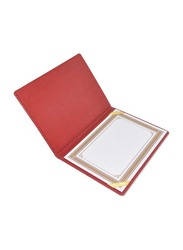 FIS Italian PU 1 Side Padded Cover Certificate Folder, A4 Size, FSCLCHPUMRD3, Maroon