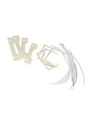FIS 50-Piece Medical U-Clip Set, FSFSU-CLIP50N, White